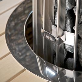 Монтажный фланец для печи Helo Rocher, хромированная сталь