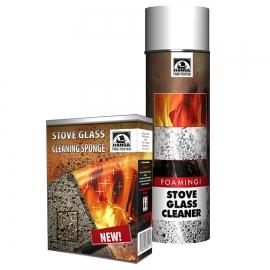 Комплект для чистки каминных и печных стекол, очиститель и губка HANSA Литва