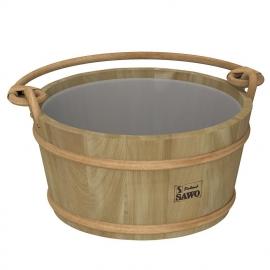 Ведро деревянное SAWO 300-HD (9 литров, с пластиковой вставкой)