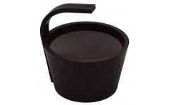 Ведро SAWO 342-BL-DRF (чёрный цвет, 4 литра)
