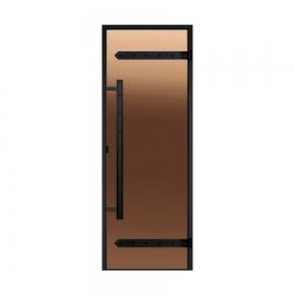 Дверь с алюминиевой коробкой Harvia Legend ALU 8x21 стекло бронза