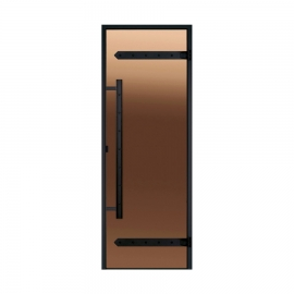 Дверь с алюминиевой коробкой Harvia Legend ALU 9x21 стекло бронза
