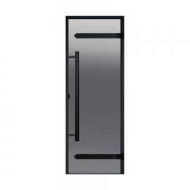 Дверь с алюминиевой коробкой Harvia Legend ALU 9x21 стекло серое