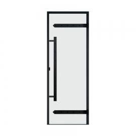 Дверь с алюминиевой коробкой Harvia Legend ALU 9x21 стекло прозрачное