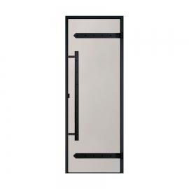 Дверь с алюминиевой коробкой Harvia Legend ALU 9x21 стекло сатин