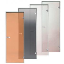 Дверь с алюминиевой коробкой Harvia ALU 9x21, коробка белая, стекло сатин