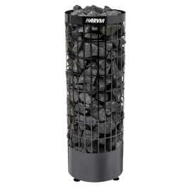 Печь-каменка электрическая для бани и сауны Harvia Cilindro PС90E Black Steel