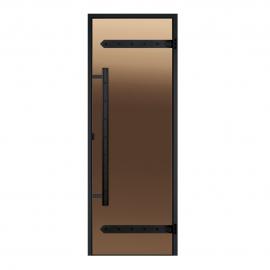 Дверь с алюминиевой коробкой Harvia Legend ALU 9x19 стекло бронза