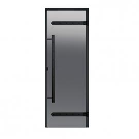 Дверь с алюминиевой коробкой Harvia Legend ALU 9x19 стекло серое