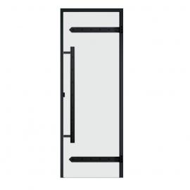 Дверь с алюминиевой коробкой Harvia Legend ALU 9x19 стекло прозрачное