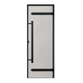 Дверь с алюминиевой коробкой Harvia Legend ALU 9x19 стекло сатин