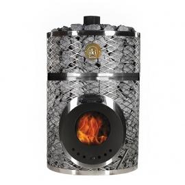 Печь-каменка дровяная для бани и сауны IKI Loyly со стеклянной дверцей