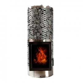 Печь-каменка дровяная для бани и сауны KIVI-IKI jr (дверца открывается направо)