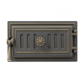 Дверка поддувальная зольная Везувий 236, бронза