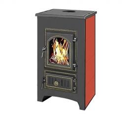 Печь-камин Везувий ПК-01(270) с плитой, Красный