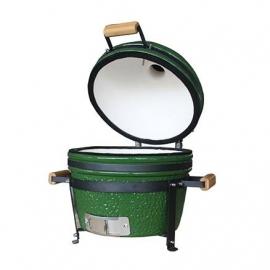 Гриль керамический Kamado S-16 настольный с ручками Зеленый