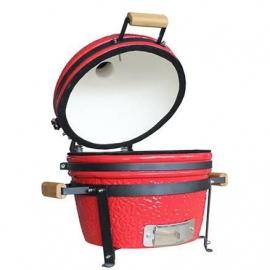Гриль керамический Kamado S-16 настольный с ручками Красный