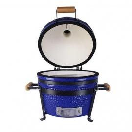 Гриль керамический Kamado S-16 настольный с ручками Синий