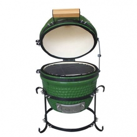 Гриль керамический Kamado A-13 настольный Зеленый