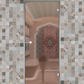 Дверь с алюминиевой коробкой HARVIA ALU 8x19