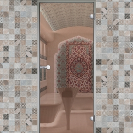 Дверь с алюминиевой коробкой HARVIA ALU 9x21