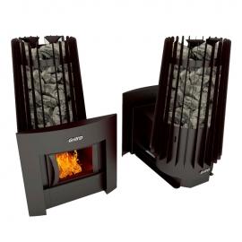Дровяная печь-каменка Grill'D Cometa Vega 180 window black