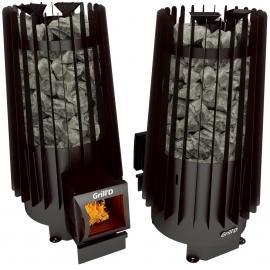 Дровяная печь-каменка Grill'D Cometa Vega 180 long black
