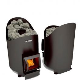 Дровяная печь-каменка Grill'D Aurora 160 short black