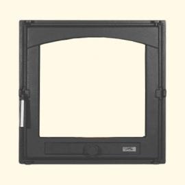 Каминная дверца HTT 402 (черная) Pisla