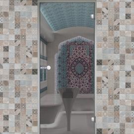Дверь с алюминиевой коробкой HARVIA ALU 9x19