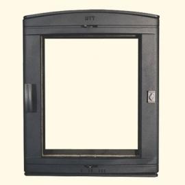 Каминная дверца HTT 526 (черная) Pisla