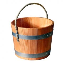 Деревянная бадья 5л d25*h20см с веревкой, лиственница, Blumenberg