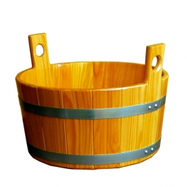 Деревянный таз 16 л. d40 х 20 см., лиственница, Blumenberg