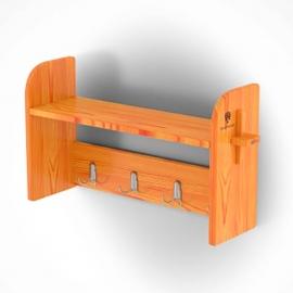 Вешалка для бани 0,86 х 0,23 х 0,45, лиственница натуральная. BentWood