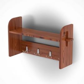 Вешалка для бани 0,86х0,23х0,45, лиственница мореная. BentWood
