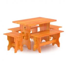 Комплект мебели (стол, скамейки) - 4 чел., лиственница науральная. BentWood