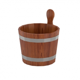 Ушат для бани 7 л d-0,28 h-0,30, лиственница мореная. BentWood