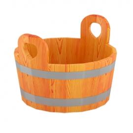 Шайка для бани 15 л d-0,41 h-0,30, лиственница натуральная. BentWood