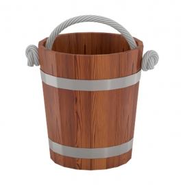 Ведро для бани 15 л d-0,31 h-0,30, лиственница мореная. BentWood