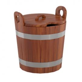 Запарник для бани (с крышкой) 22 л d-0,37 h-0,40, лиственница мореная. BentWood