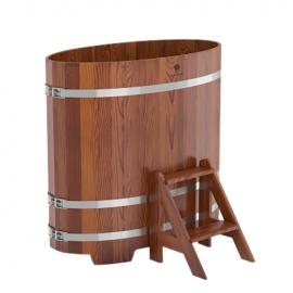 Купель овальная лиственница мореная 0,69 х 1,31, h-1,0. BentWood