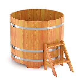 Купель круглая лиственница натуральная d-1,50 h-1,0. BentWood