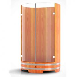 Душевая кабина со стеклянными дверцами, лиственница натуральная 0,95 х 1,2, h-2,0. BentWood
