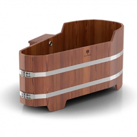 Ванна лиственница мореная 1,53 х 0,74, h-0,6/0,7. BentWood