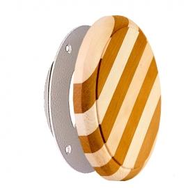 Вентиляционный клапан для сауны комбинированная древесина, D 100.