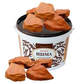 Камни для бани и сауны. Яшма (10 кг, ведро, обвалованный, мытый). Огненный Камень.