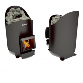 Дровяная печь-каменка Grill'D Aurora 180 short black