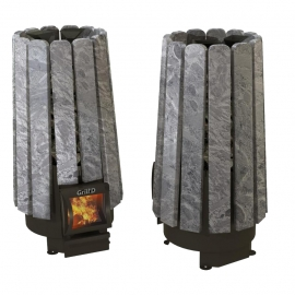 Дровяная печь-каменка Grill'D Cometa Vega 180 short Stone