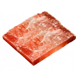 Розовая гималайская соль, плитка натуральная Рустик. 200х200х25 мм. Пакистан