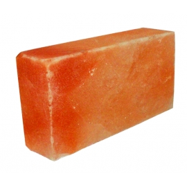Розовая гималайская соль, кирпич гладкий. для бани и сауны. 200х100х50 мм. Пакистан